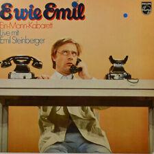 """EMIL STEINBERGER - E wie Emil - Ein-Mann-Kabaret - LP 12"""" (Z1253)"""