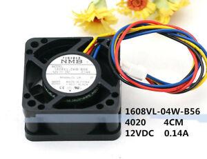 NMB 1608VL-04W-B56 4020 4CM 12V 0.14A 1.56W 9500 RPM 4-line PMW cooling fan