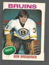 1975-76 OPC O-Pee-Chee Hockey Ken Broderick #340 Goalie Boston Bruins NMT+ *1
