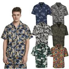 Urban Classics Patrón Resort Camisa Floral Verano Palm Stone Camuflaje Tropical