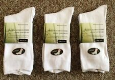 6 PAIRS WHITE ORGANIC BAMBOO LOOSE TOP HEALTHY DIABETIC SOCKS BIG SIZE 11-14