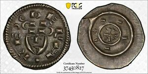 "1131-41 Hungary Huz-50 Denar PCGS MS62 Reign of Bela II ""Bela The Blind"""