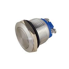 Drucktaster Edelstahl IP67 19 mm Schließer 250 V AC / 3 A Schraubanschluß 12804