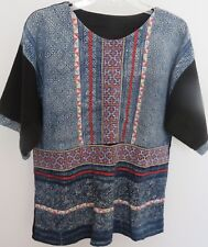 Blouse of Beautiful, Vintage, Decorative Indigo from Hmong Hill Tribe, Thailand