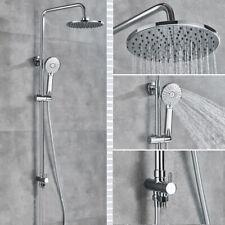 "8"" Rigid Riser Shower Kit Bathroom Mixer Tap Shower Faucet Wall Mounted Chrome"