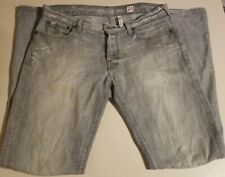 Guess Jeans Falcon Boot Cut Faded Distressed Denim Men's Size 34 x 34