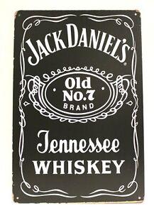 Jack Daniel's Whiskey Tin Metal Poster Sign Whisky Bar Man Cave Vintage Look Ad