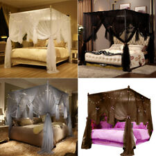 4 Corners Post Bed Canopy Mosquito Netting Or Frame/Post Single Double King