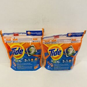 2 TIDE PODS 3 in 1 Laundry Detergent 16 Pacs each 12oz. Original - NEW & Sealed