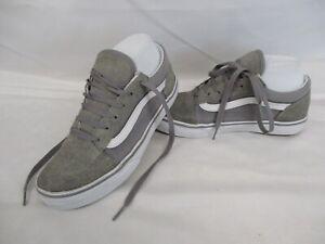 VANS Old Skool Low Top Trainers, Skate Shoes, Grey, Size UK 4, Eur 36.5