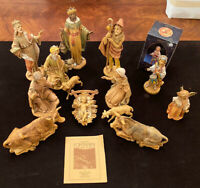Vintage Fontanini Nativity Set Depose 1983 Spider Italy Figurines 11 Pieces