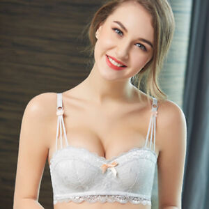 Sexy Womens Lace Bra Thick Padded Un-Wire Super Push Up Bras AA A B C D Cup
