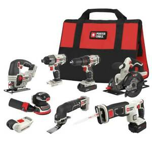 Porter-Cable PCCK6118 20-Volt 8-Tool Cordless Drivers and Saws Combo Kit