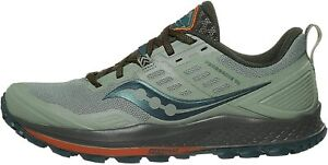 Saucony Trail Running Shoes Peregrine 10 Mens Green Orange