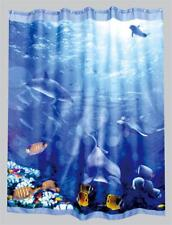 Marine Ocean Life Fish in Sea Coral Reef Shower Curtain 180cm X 200cm Polyester