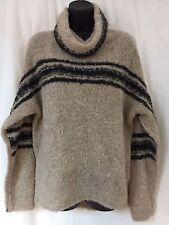 360 Cashmere Brown & Black Sweater (Medium)