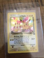 Pokemon Pikachu Birthday Surprise Holo #24 Black Star Promo Rare Card NM PSA Rdy