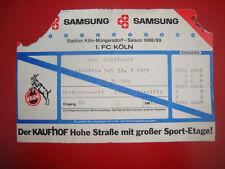 88/89 Ticket 1. FC Köln - VFB Stuttgart Eintrittskarte Sammler EC Bundesliga