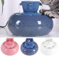 Ceramic Cat Dog Pet Automatic Circulating Water Dispenser Fountain Drinker Bowl