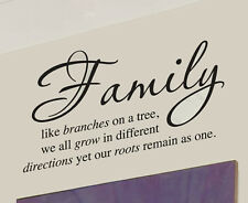 Family Tree Together Love wall Vinyl Sticker Decal quote Home Room Decor Art New