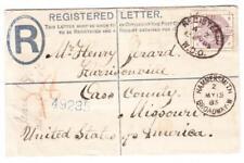 Great Britain REGISTERED POSTAL ENVELOPE-uprated SG#190-HAMMERSMITH