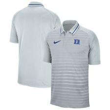 Men's Nike Duke Blue Devils Stripe Raglan Polo Medium NWT $60