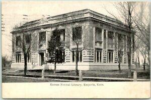 "1909 Emporia, Kansas Postcard ""Kansas Normal Library"" Emporia State University"