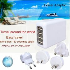 4 USB PORT Multi Travel Plug Charger Adapter Universal International World Wide