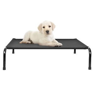 Large RAISED DOG BED Pet Puppy Elevated Furniture Cooling Metal Frame Sofa