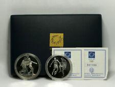 2004 Olympic Games Athens Silver 10 Euro Proof Coin Set Football Handball 925