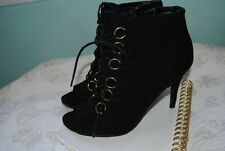 Womens Sexy Lace-Up Suede heeled Ankle Boot Booties Size 8.5