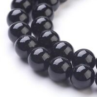 Blackstone 8mm Beads Natural 1 Strand Approx 48 Pieces