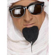 Black Arab Beard Sheikh Arabian Desert Mens Fancy Dress Accessory