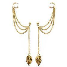 Caratcube Beautiful Golden Linings Chain Ear Cuff Earrings Set  (CTC - 44)