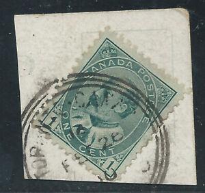 Canada #89(1) 1903 1 cent green KING EDWARD VII TORONTO ONTARIO