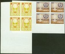 Liberia 1962 Anti-Malaria TRIAL COLOR PROOF BLOCKS