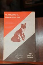 1977 1978 Fc Taylor Fur Company Trapper Hunter Fisherman Supplies Catalog