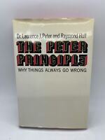 the Peter Principle 1969 1st ed HC DJ Self Help Book Laurence Raymond Hull Gift