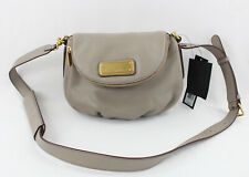 Marc Jacobs NWT Cement Taupe Gray Leather Shoulder Bag Crossbody