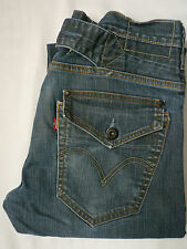 LEVI'S 503 MENS LOOSE JEANS STRETCH STRAIGHT LEG W32 L32 STRAUSS BLUE # LEVE695