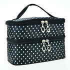 Womens Travel Cosmetic Storage Makeup Bag Zip Case Pouch Toiletry Wash Organizer