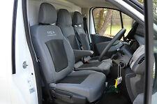 Opel Vivaro Business Plus 3rd gen grey & black van seat covers.