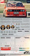 1/24 BMW M3 E30 JAGER MEISTER LINDER DTM 92 GARDNER HAHNE DECAL f AOSHIMA BEEMAX
