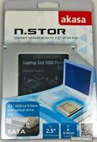 Akasa N.STOR AK-OA2SSA-03 2.5 Zoll Festplatten HDD/SSD Einbaurahmen für Notebook