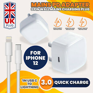 100% Genuine CE charger PD plug cable For iPhone 12 PRO MAX Iphone 11 XR X XS