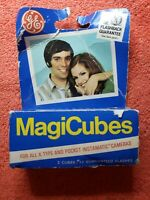 2 Vintage GE MagiCubes Flash 3 Pack Flash Cubes for X Type Cameras