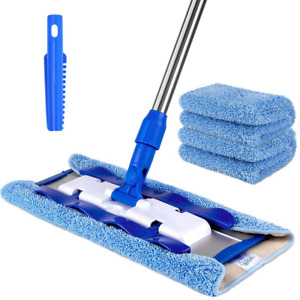 MR.SIGA Professional Microfiber Mop,Stainless Steel Handle - Pad Size: 42cm x23c