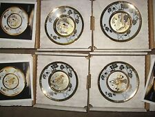 Eternal Wishes for Good Fortune Hamilton Collection, all 12 Chokin Plates 1985
