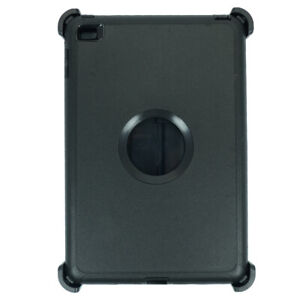 Black For iPad Mini 5 Defender Case w/ Stand Holder & Built in Screen Protector