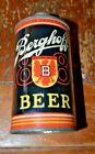 Berghoff 1887 Beer Low Profile IRTP Cone Top Beer Can  Sharp Looking